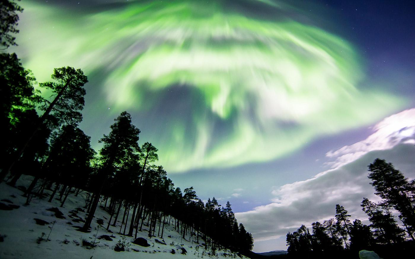 تجربه شفق قطبی در لپلند فنلاند