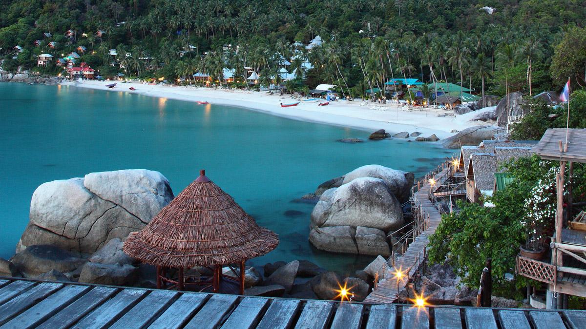 رفتن به ساحل هاد یوآن در کو فانگان در تور تایلند
