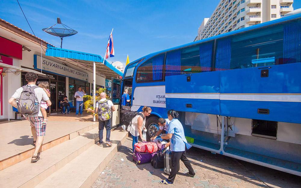 رفتن از پاتایا به فرودگاه بانکوک