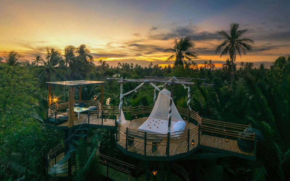 معرفی بهترین هتلهای دنیا با اتاقهایی در فضای باز