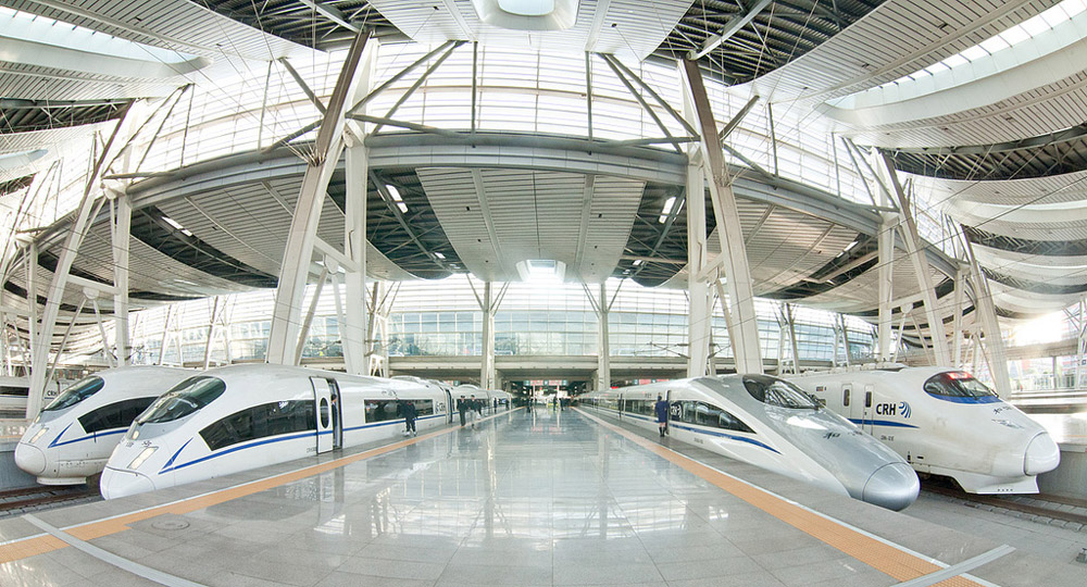 8 مسیر اصلی خط آهن سرعت بالای چین