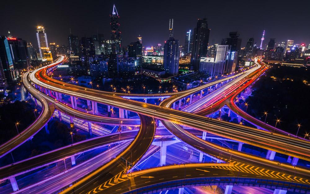 گشتی در آینده از میان بزرگراه های شانگهای
