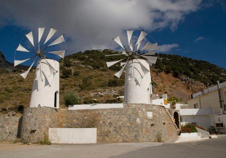 آسیاب های بادی فلات Lasithi در کرت یونان