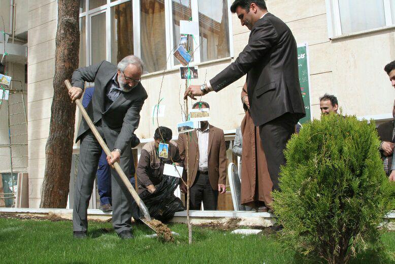 همایش کاشت 19 نهال امید به گرامیداشت میراث جهانی ایران در پردیس شماره دو دانشگاه علامه طباطبایی