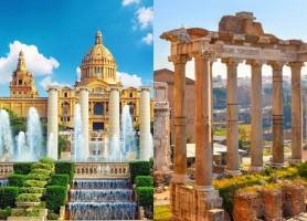 تور 8 روز ایتالیا + اسپانیا