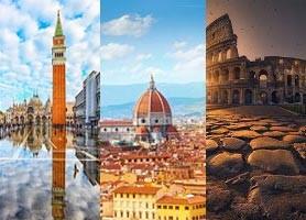 تور  ایتالیا 8 روز (تور رم 3 شب + تور فلورانس 2شب + تور ونیز 2 شب) پاییز و زمستان 96