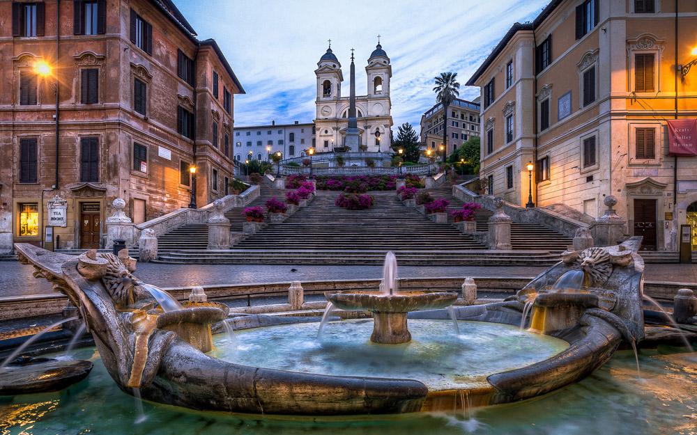 پله های اسپانیایی، رم، ایتالیا