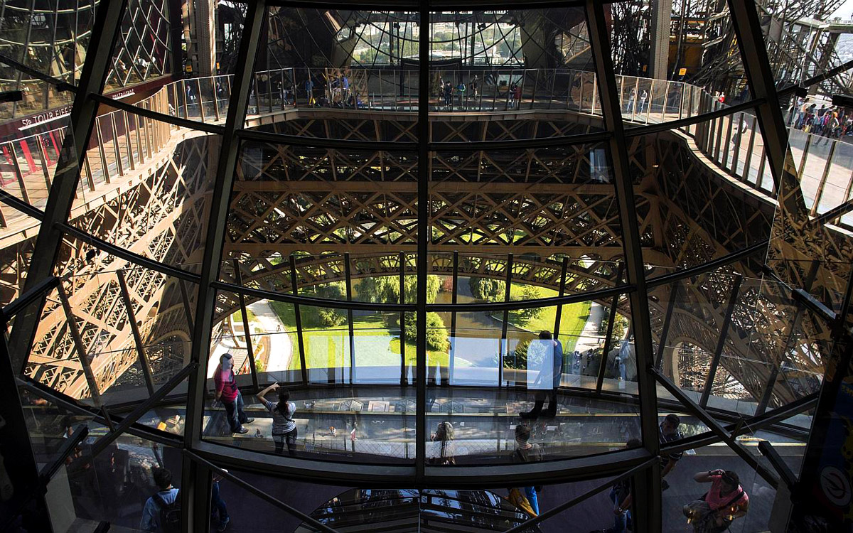 Glass Floor of Eiffel Tower