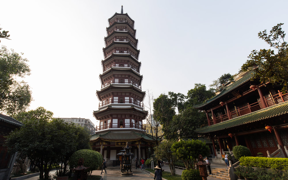 معبد شش درخت انجیر، گوانگجو، چین