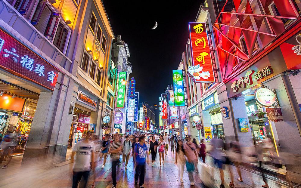 خیابان خرید شانگشیاجیو، گوانگجو، چین